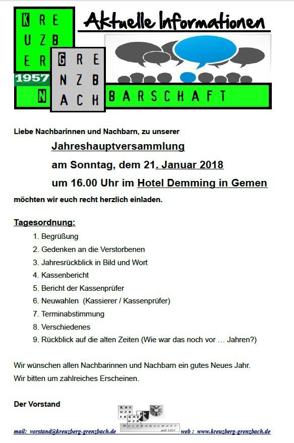 Einladung Jahreshauptversammlung 2018. Die Einladung Kann Als PDF Datei Zum  Ausdrucken Heruntergeladen Werden. JHV 2018   Einladung   Flyer (2).pdf